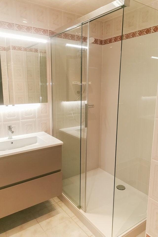 CK Service - Project Mortsel - een nieuwe, grotere douche